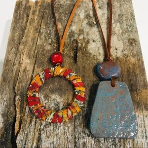 Haiti and Thailand Necklaces: Set of 2